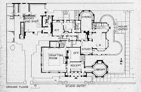 frank lloyd wright style house plans flw home floor plan 1 fllw home and studio frank