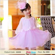 pretty pink designer casual party dress online for kids