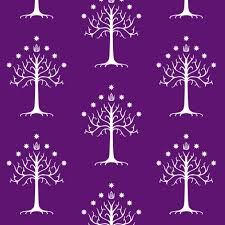 white tree of gondor purple fabric thinlinetextiles spoonflower