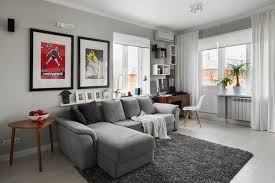 stylish light grey paint color for living room for relaxing room