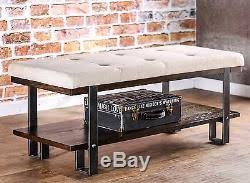 Upholstered Entryway Bench Bench With Storage Shoes Rustic Upholstered Living Room Industrial