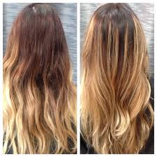 does hair look like ombre when highlights growing out hair by melanie sewell salon melrose turned this grown out