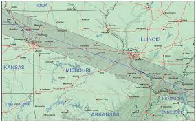 Road Map Of Illinois by Missouri And Illinois Eclipsophile