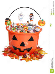 halloween food clip art child halloween pumpkin bucket with candy and fall stock