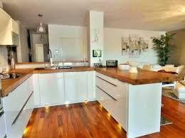 cuisine plan travail bois cuisine blanche plan de travail bois 9n7ei com