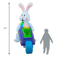 Large Easter Egg Yard Decorations by Inflatable Easter Bunny Outdoor Yard Decoration 6ft Tall U2013 Alice U0027s
