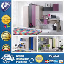 Childrens Bedroom Desks Children U0026 039 S Bedroom Furniture Set Desk Cupboard Wardrobe Inner