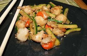 recette cuisine wok wok de jacques au gingembre recette dukan pl par mais