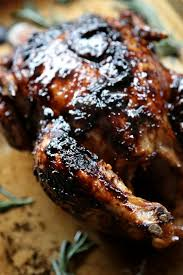 fig and rosemary sticky glazed roast chicken country cleaver