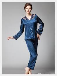 2017 satin pajama sets pajamas set imitated silk