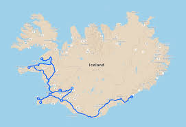 Icelandair Route Map by New Years Celebration Nordika Travel