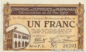 chambre de commerce de perpignan 1 franc régionalisme et divers perpignan 1917 jp 100 23