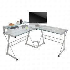 Glass L Shaped Computer Desk by L Shaped Computer Desk Ebay