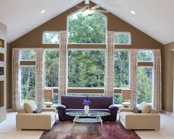 curtain ideas for large windows in living room living room curtain