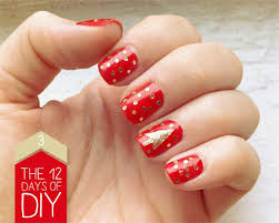 easy christmas nail art designs u0026 ideas 2013 2014 x mas nails