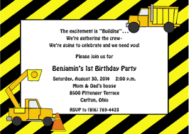 under construction birthday party invitations the free party