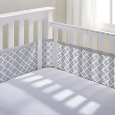 breathable baby mesh crib liner gray clover a safe bumper for