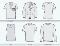 set of template t shirts from different angles stock illustration
