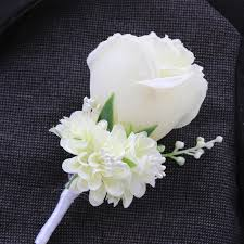 groom s boutonniere best wedding boutonniere in ivory purple white blue10 color