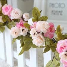 Schlafzimmer Shabby Dekorieren Rosa Rose Girlande Blume Vintage Shabby Chic Stil Hochzeit String