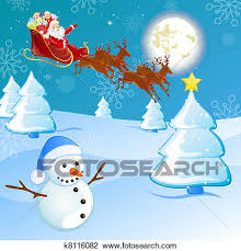 clipart of winter scene christmas card k8116082 search clip