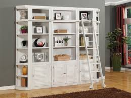 smart bedroom storage wall desk with bookcase white library
