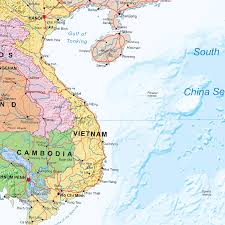 Asia Continent Map Continental Series South East Asia Wall Map Xyz Maps