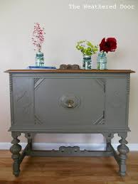 small antique buffet the weathered door