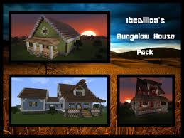 bungalow two section series ibedillon u0027s bungalow house pack download included minecraft project