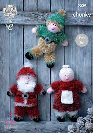 christmas toys knitted with tinsel chunky u0026 dollymix dk king cole