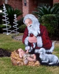 kneeling santa outdoor decorations search