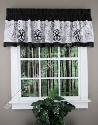 Sheer Valances For Windows Covina Valance Black White Lush Decor Kitchen Valances