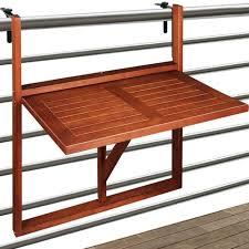 wooden hanging balcony table from acacia hardwood outdoor garden