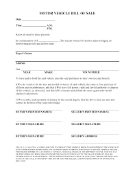 Car Bill Of Sale Template by Free Colorado Vehicle Bill Of Sale Form Pdf Docx