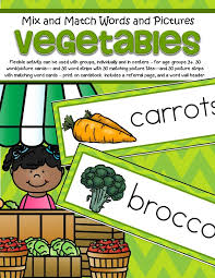 vegetables theme activities and printables for preschool and
