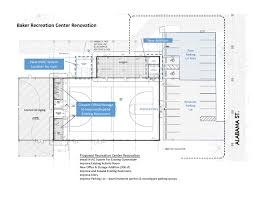 floor plan for gym baker recreation center project brec org