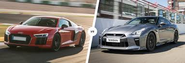 audi supercar audi r8 vs nissan gt r supercar comparison carwow