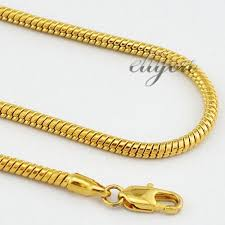 white gold fashion necklace images 2018 new fashion jewelry 3mm 18k yellow gold filled necklace snake jpg