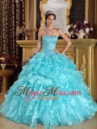 aqua quinceanera dresses aqua blue gown sweetheart floor length ruffles organza