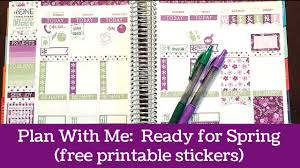 erin condren life planner free printable stickers plan with me ready for spring and free printable stickers erin