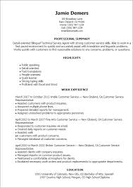 resume on customer service bilingual resume examples