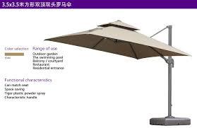 purple leaf patio umbrella offset outdoor market beach cafe