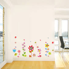 beautiful flowers floral butterfly diy wall stickers wallpaper beautiful flowers floral butterfly diy wall stickers wallpaper sales online tomtop com