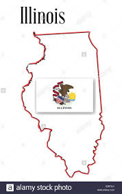 Illinois State Map by Illinois State Map And Flag Stock Vector Art U0026 Illustration