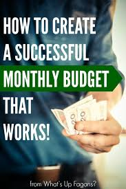 how to create a realistic household budget money matters create a successful monthly budget that works free excel