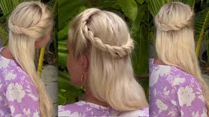 bohemian half up half down hairstyle for medium long hair princess