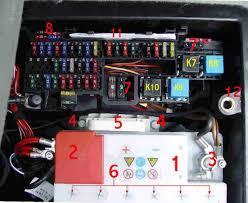 bert rowe u0027s a class info battery compartment fuses u0026 relays