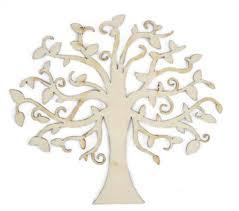 flourishes die cut wood pieces elm tree