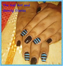 the men in black n blue nail art nail art and beauty