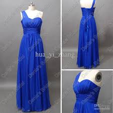 royal blue chiffon bridesmaid dresses royal blue chiffon bridesmaid dresses a line one shoulder